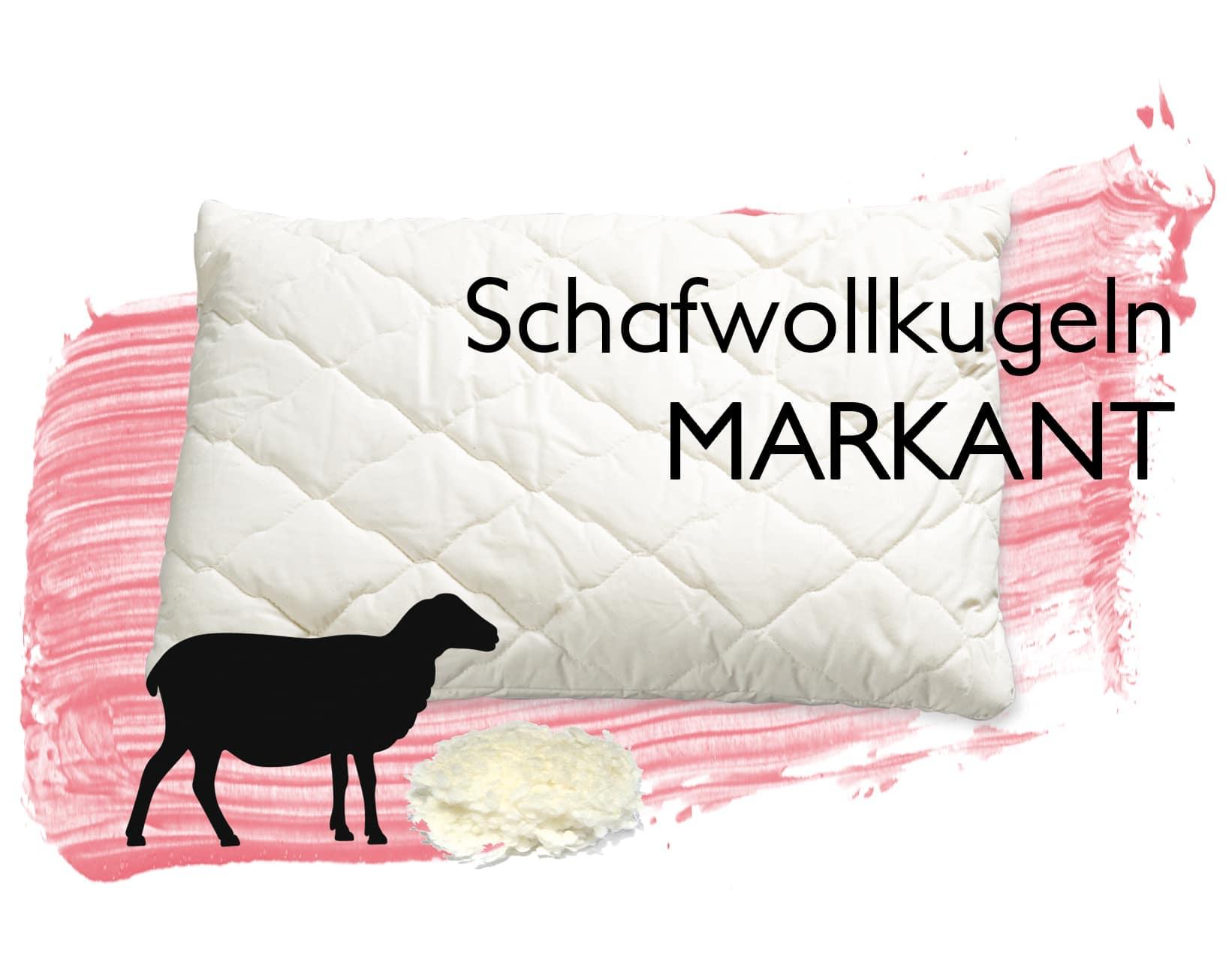 Markant Wolle Kissen Schwafwolle