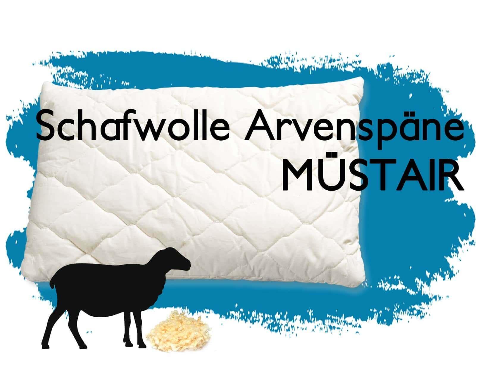 Schafwolle mit Arve Kissen Müstair