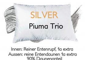 Kissen Daunen Silver Piuma Trio